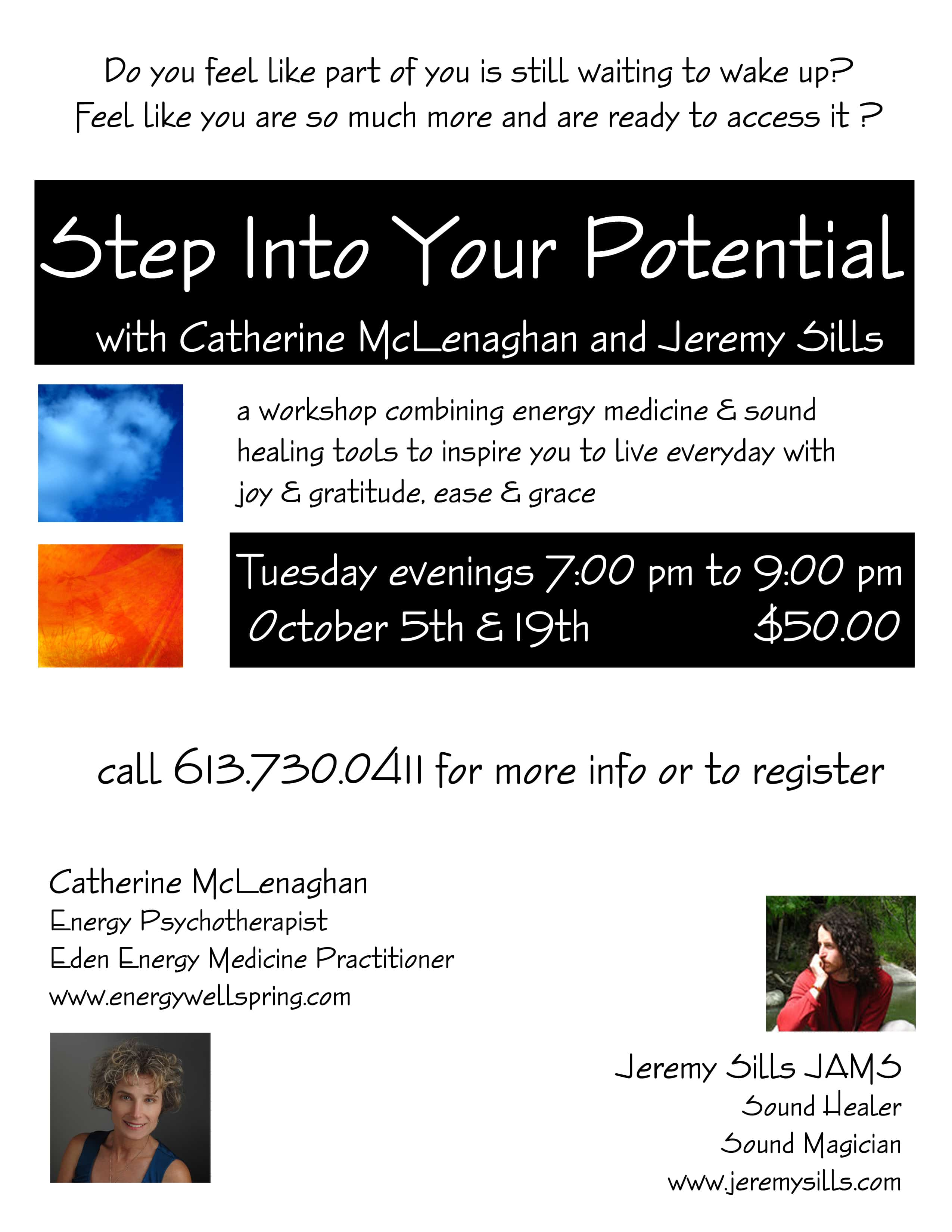 Step into Your Potential – 5/10/2010 & 19/10/2010