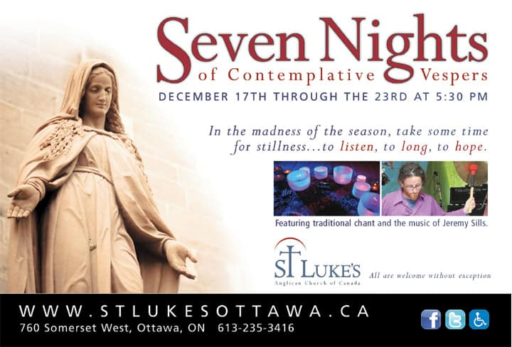 7 Nights of Contemplative Vespers 17th-23rd/12/2011
