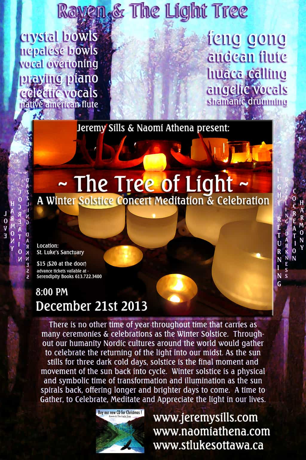 CONCERT – Winter Solstice ~The Tree of Light ~ 21/12/2013