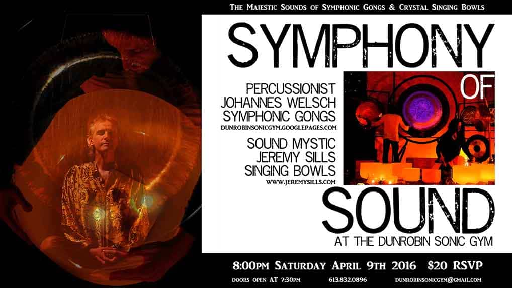 Symphony of Sound at the Dunrobin Sonic Gym April 9 2016 Jeremy sills johannes welsch