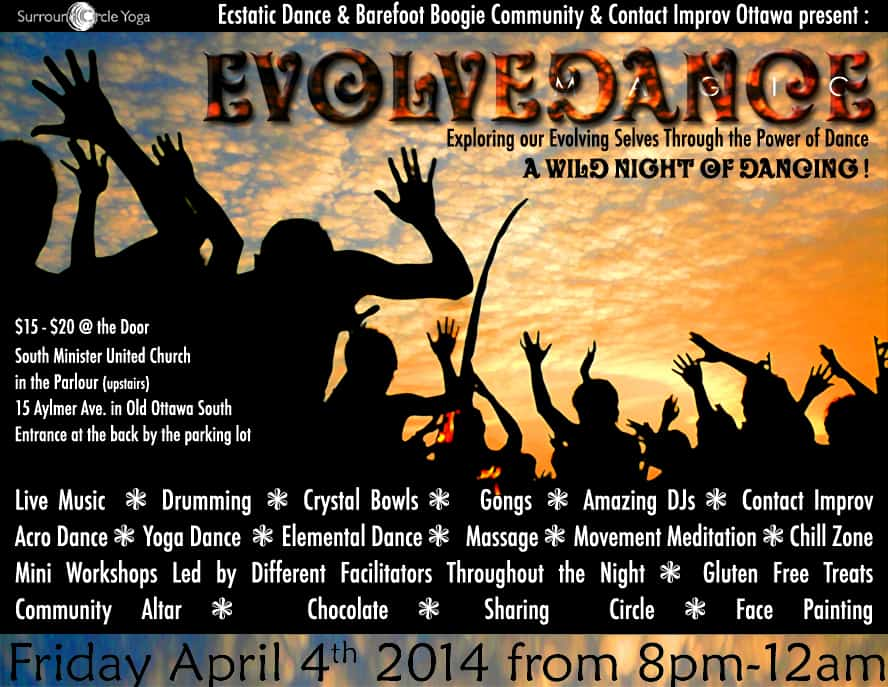 EVOLVEDANCE – A wild night of dancing ! 4/04/2014