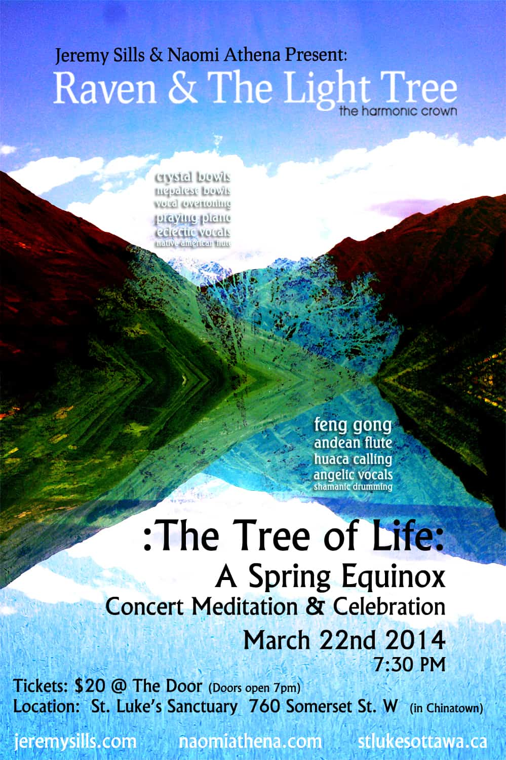 CONCERT –Spring Equinox – The Tree of Life ~ 22/03/2014