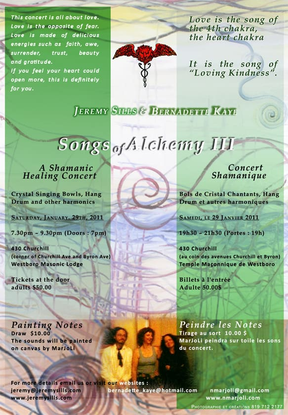 Songs of Alchemy III ~ Loving Kindness – 29/01/11