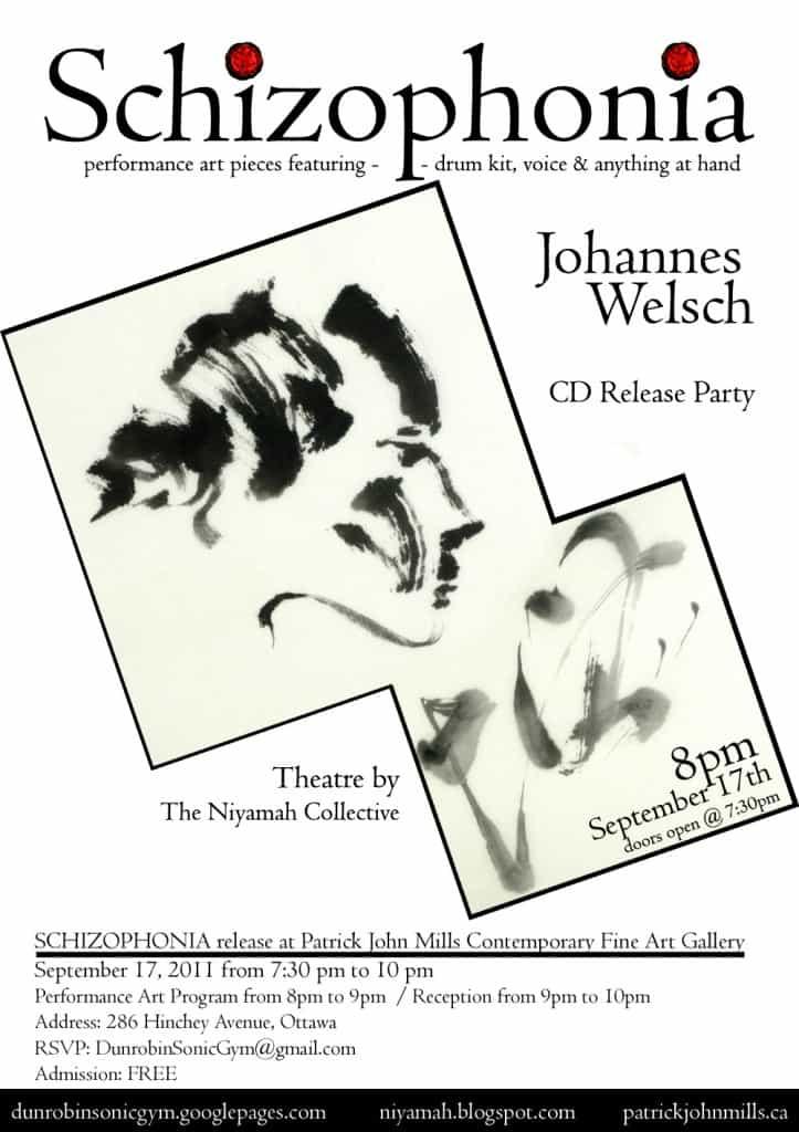 CD Release – Johannes Welsch – Schizophonia 17/09/2011