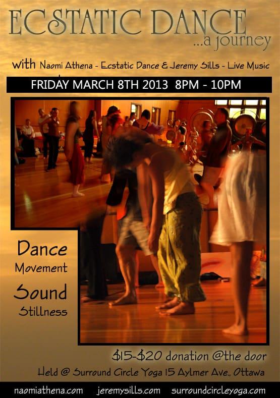 ECSTATIC DANCE – with Naomi Athena & JAMS 8/03/2013