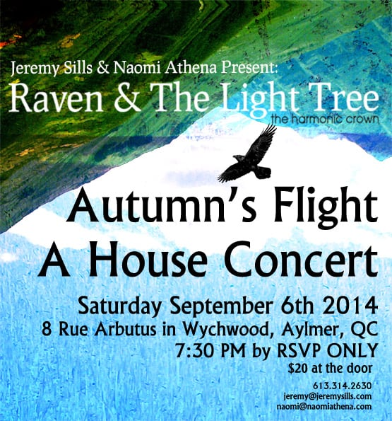 House Concert: Raven & The Light Tree 06/09/2014