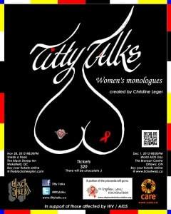 Titty Talks Poster 2013 Black LETTER - SMALL