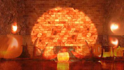 crystal singing bowls himalya salt cave